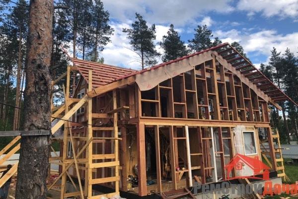 Реконструкция верхней части дома